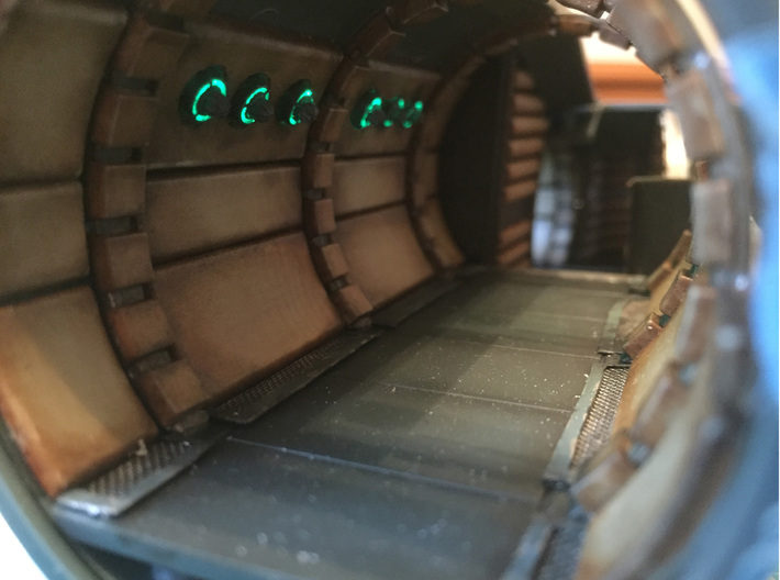 Star Wars Millennium Falcon Corridor Lighting 3d printed and hear they are lit up
