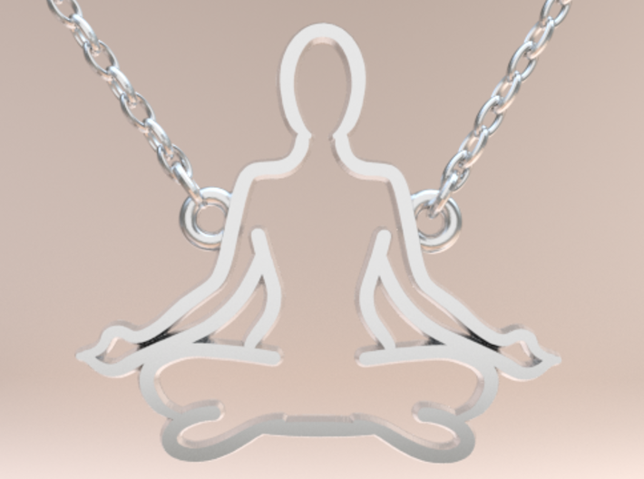 Meditation Yoga Lotus Pose 3d printed