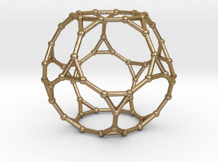 0383 Truncated Dodecahedron V&E (a=1сm) #002 3d printed