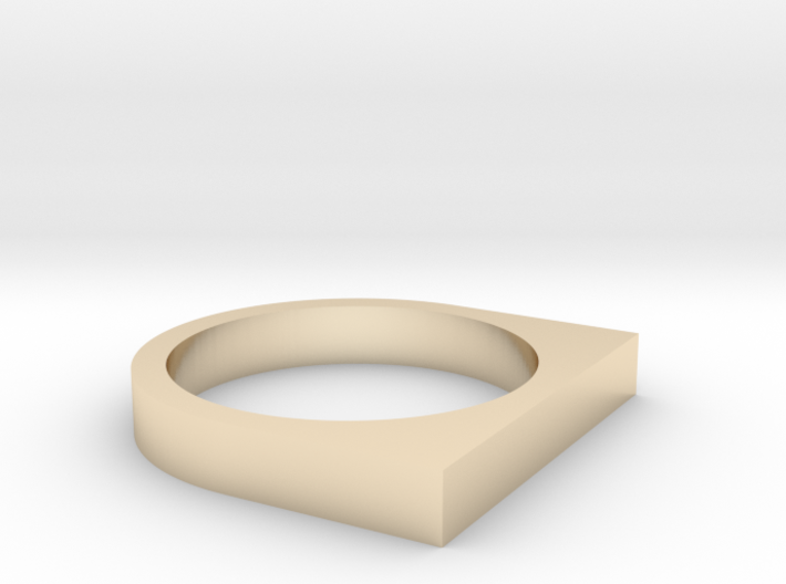 Minimal Square Top Ring, Size 7 3d printed
