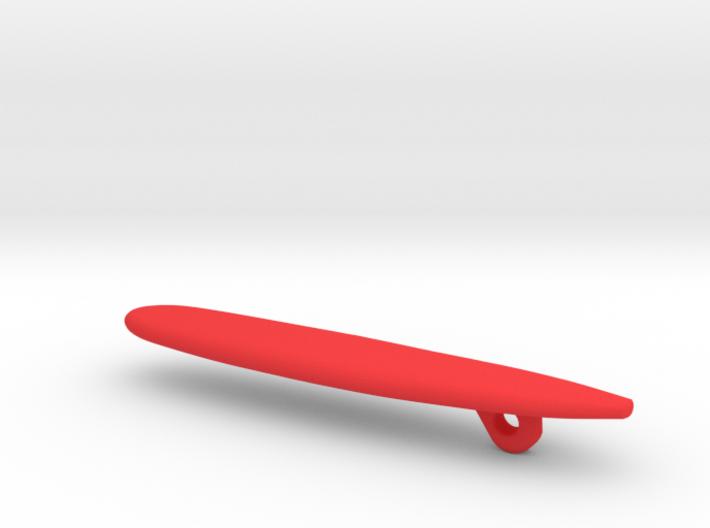 Surfboard Christmas Tree Ornament - Longboard 3d printed