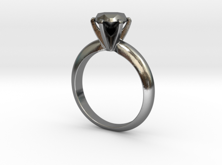 Diamond ring 'Big', Size 8 us (18.2mm) 3d printed