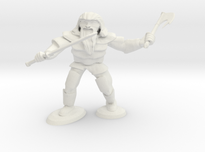 Dwarf Two Weapon Fighter 3d printed