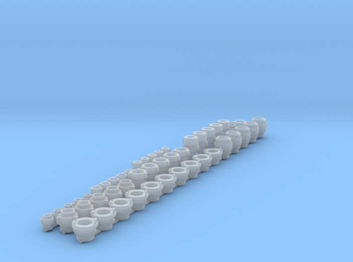 """1.5,2 and 4"""" hose fittings 1/24 scale 3d printed"""