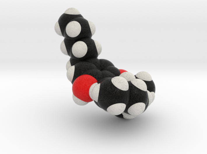 THC Molecule Model, Spacefill style 3d printed