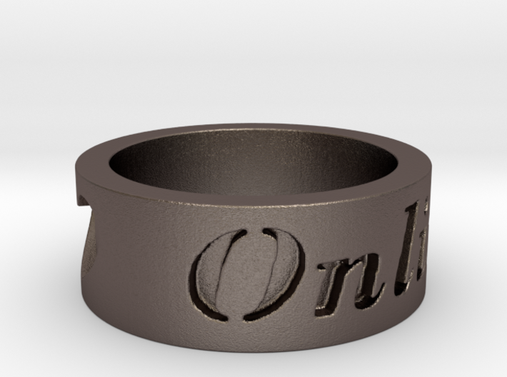 Love OnLine Ring Size 7 3d printed