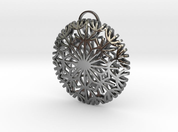Dandelion seeds pendant(32mm) 3d printed