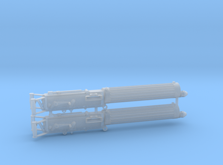 Two 1/18 scale Vickers Machine gun 3d printed