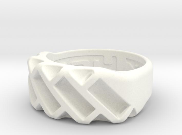 US6 Ring XVII: Tritium 3d printed