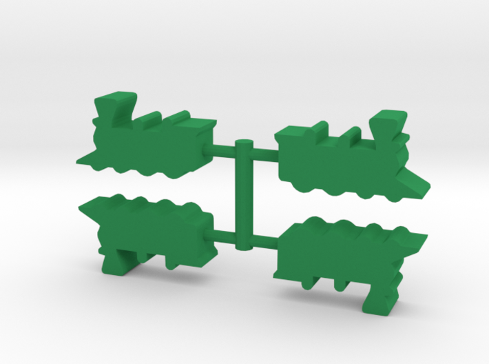 Game Piece, Train Steam Engine 4-set 3d printed
