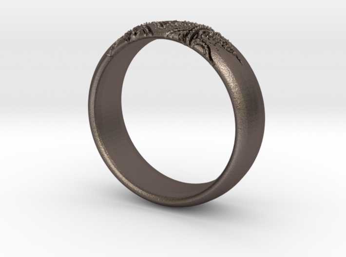 Ace Ring_Henna_Spade_CARVED_Size11 3d printed