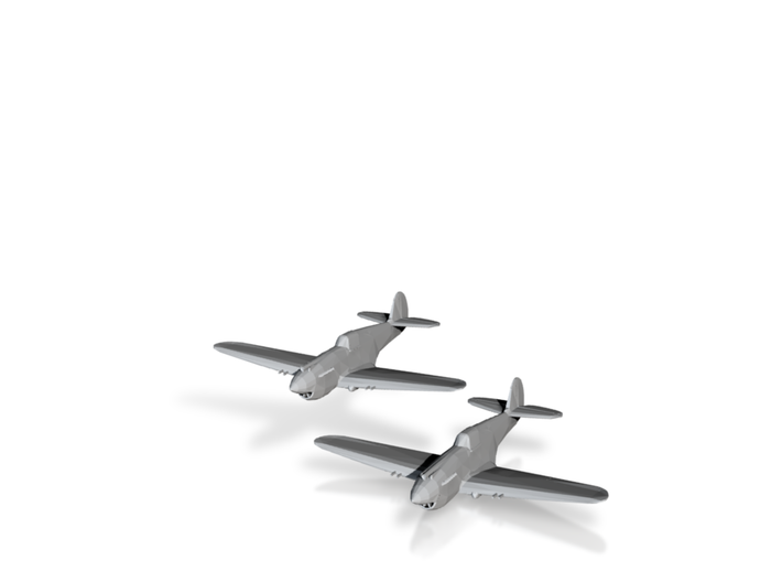 Curtiss P-40B/C 'Warhawk' 1/200 x2 3d printed