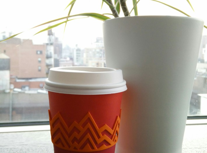Melting Mountains Coffee Cup Sleeve 3d printed