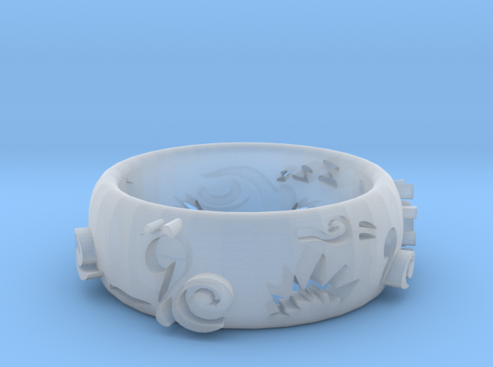 Napkin Ring Turtle 3d printed
