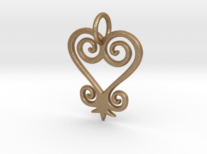 Sankofa small charm 3d printed