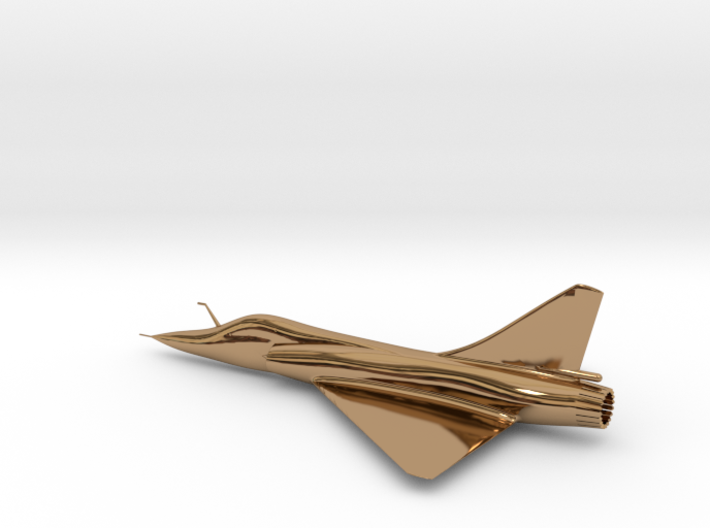 Dassault Mirage 2000 gold 100mm 3d printed