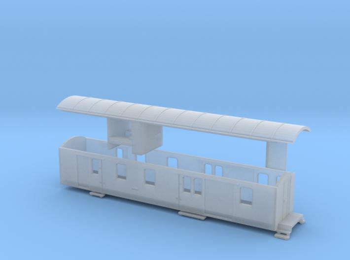 Nm Post- und Gepäckwagen YsteC Fz61 (1:160) 3d printed