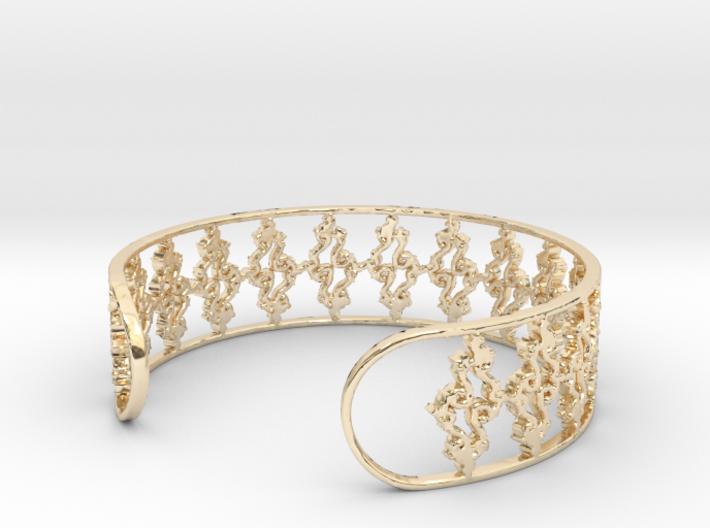 Julia Set Bracelet 7in (18cm) 3d printed