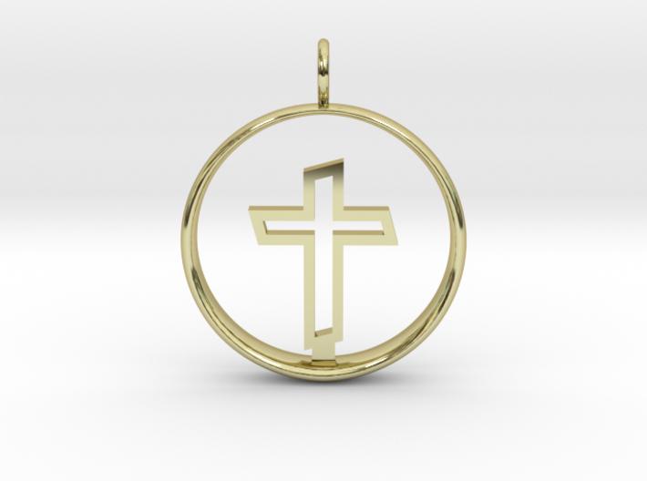Cross Pendant 2 - (Medium) 3d printed
