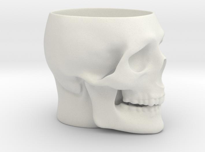 Skull Mug 3d printed