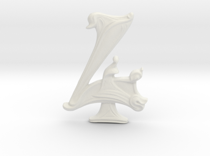 "Art Nouveau House Number: 4 at 6"" 3d printed"