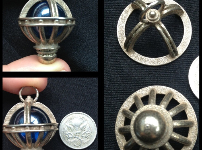 Orions Belt Stainless 3d printed Customer's Image marble not included.Material: Stainless Steel