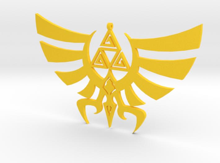 Triskele Hyrule Crest Pendant 3d printed