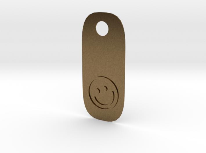 Happy Tag 3d printed