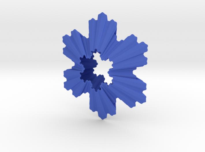 Koch Snowflake Ornament 3d printed