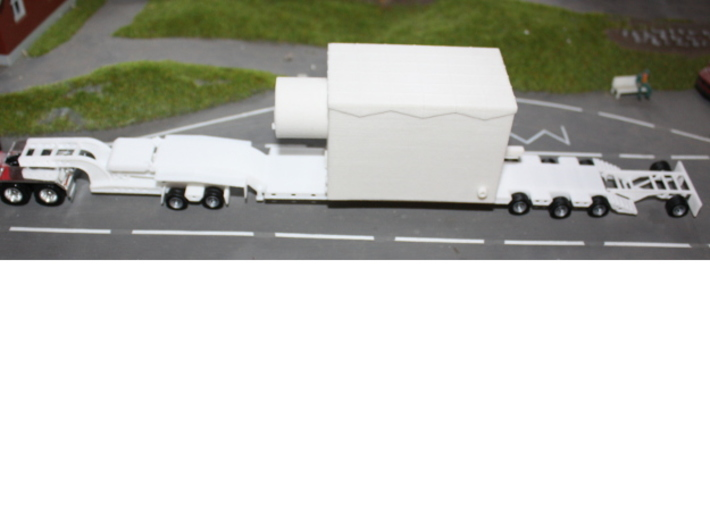 000036 ( 2 axle Dolly ) Low Loader USA HO 1:87 3d printed