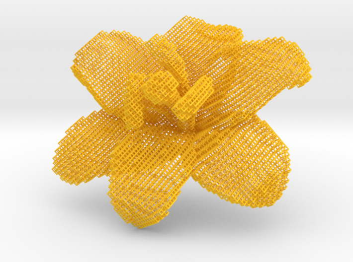 Lily Flower 1 Block Wire 3d printed