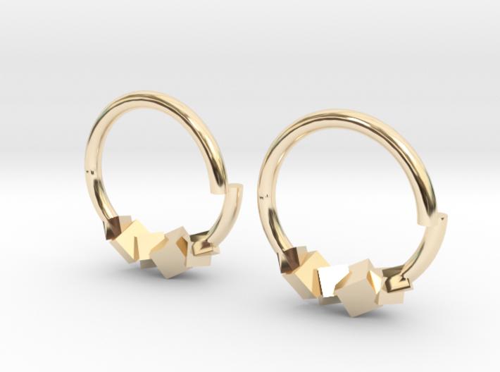 Cubic Earring 3d printed