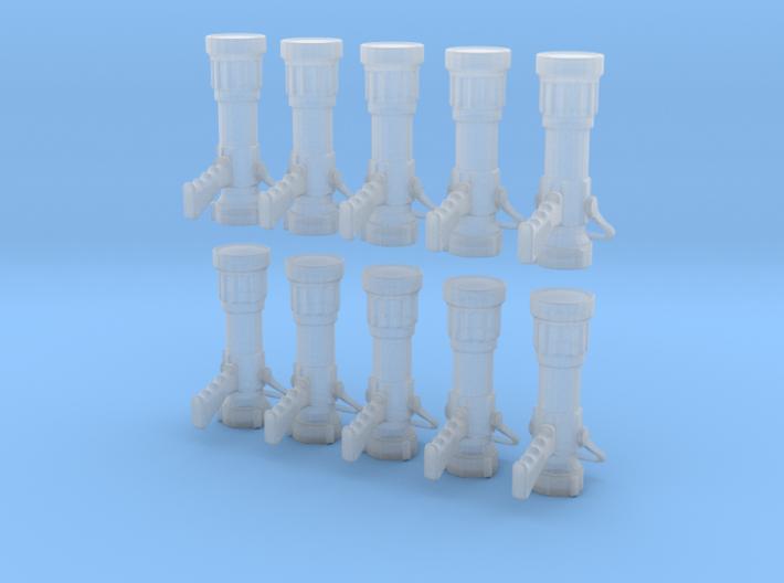 1/24 scale 2.5 handline Nozzles 3d printed