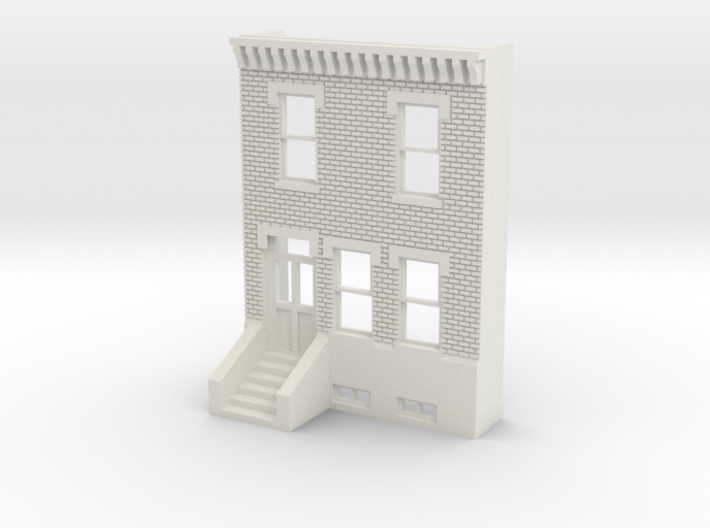O SCALE ROW HOUSE FRONT BRICK 2S 3d printed