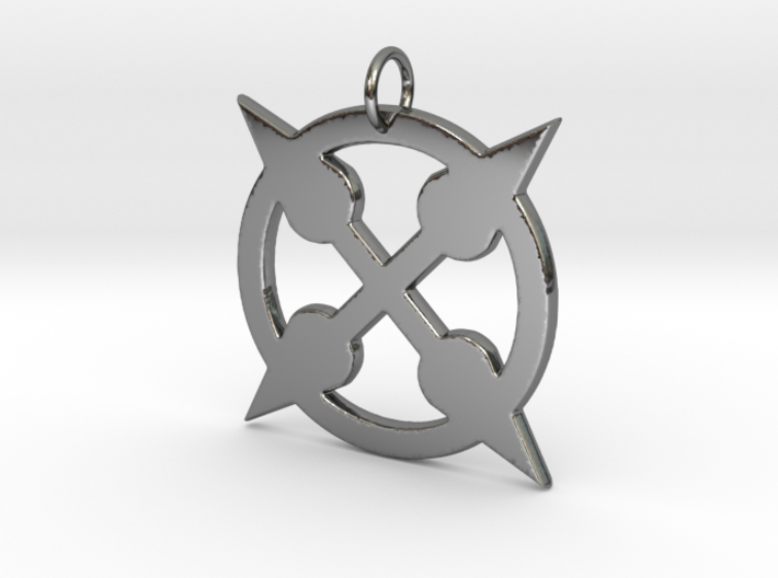 Spikey Punk Amulet 3d printed