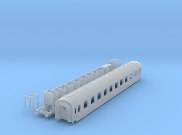 DSB class Bk coach N scale 3d printed
