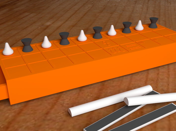 Ancient Senet Board Game Board Only 3d printed