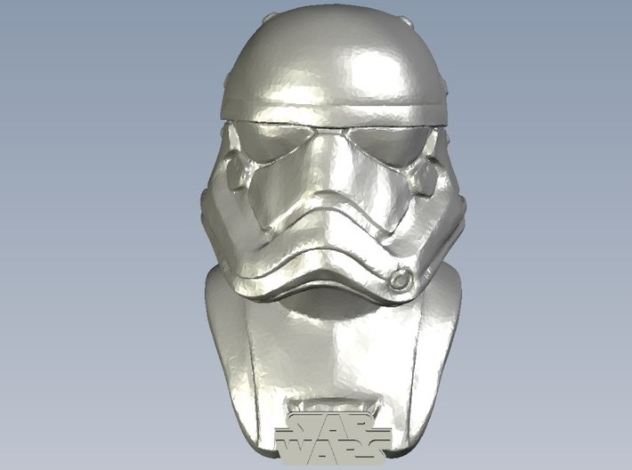 1/9 scale Star Wars Imperial stormtrooper bust 3d printed