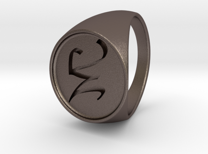 Custom Signet Ring 17 3d printed