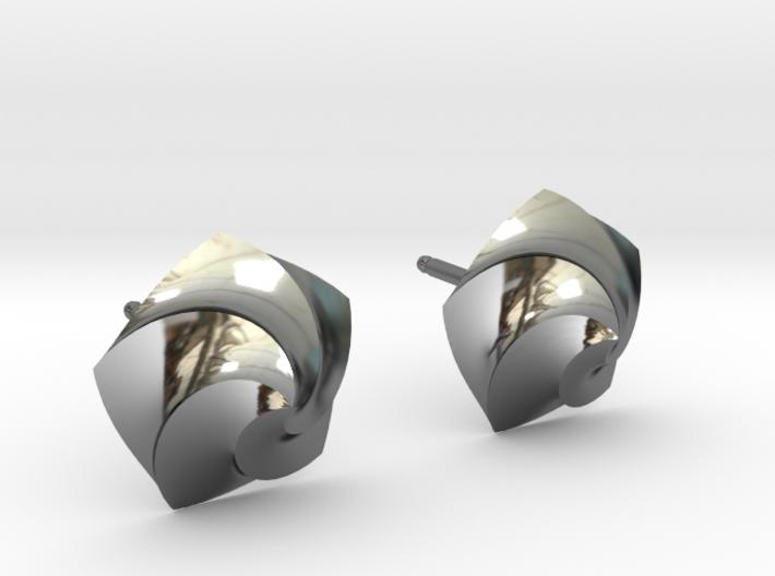 Swirl Earrings 3d printed