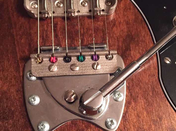 V 2.0 - Modern Spaced Hagstrom-style Tremolo Claw 3d printed