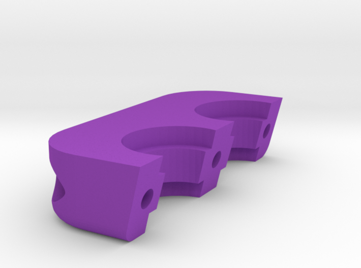 Dual all metal hotend mount clamp for RepRap 3d printed