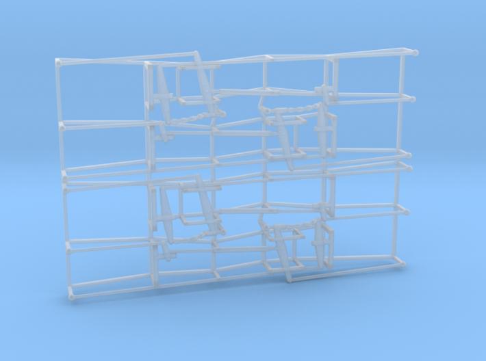 Caboose Brake Rigging (4 pieces) 3d printed