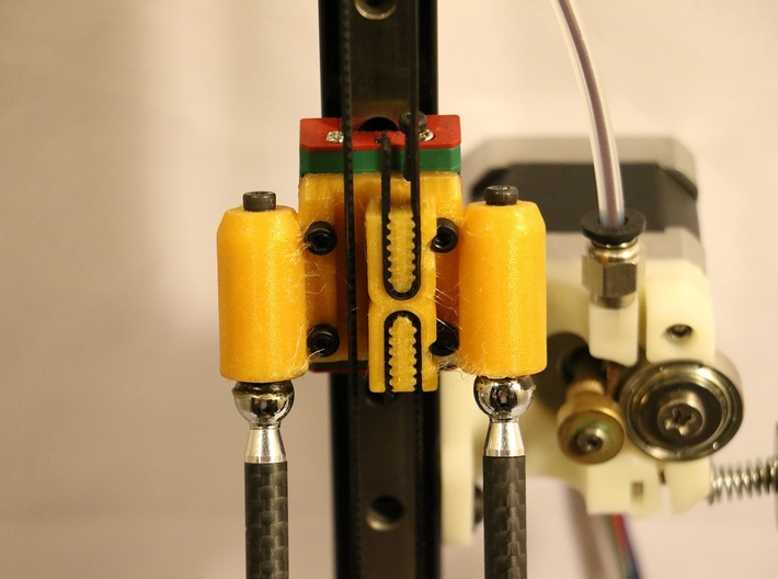 Kossel Mini Effector Clamp Magnetic Ball Joint 3d printed