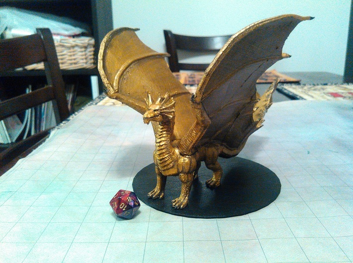 Brass Dragon 3d printed
