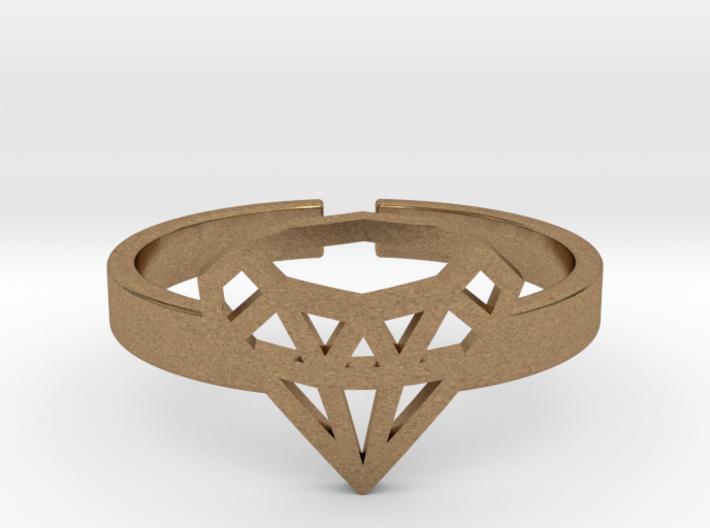 Diamond Emoji Ring 3d printed