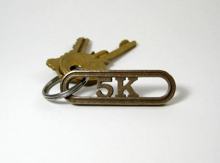 5K Runner's Keychain 3d printed 5K Keychain for runners