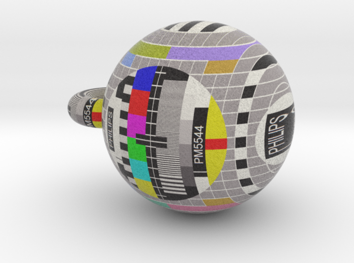Philips PM5544 television pattern ball 50mm 3d printed