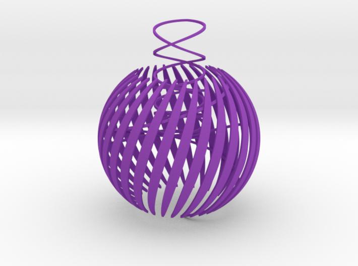 Semi-open christmas ball thin 3d printed
