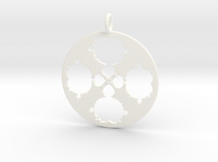 Mandelbrot Clover Pendant 3d printed